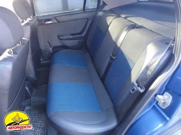 Авточехлы Premium для салона Opel Astra G '98-10 синяя строчка (MW Brothers)