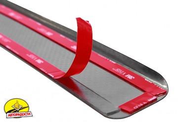 Накладки на пороги карбон для Honda Civic '06-11 хэтчбек (Premium+k)