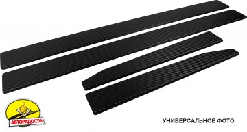 Накладки на пороги карбон для Ssangyong Kyron '07-15 (Premium+k)