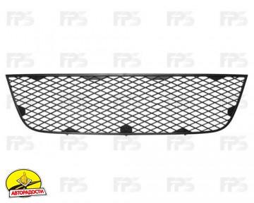 Решетка бампера для Fiat Doblo '05-09 средняя, черная (FPS)