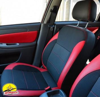 Авточехлы Premium для салона Chevrolet Aveo '04-11, седан красные (MW Brothers)