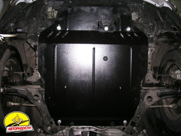 Защита двигателя и КПП, радиатора для Citroen С-Crosser '07-12, V-2,2HDI; 2,4, АКПП (Кольчуга)
