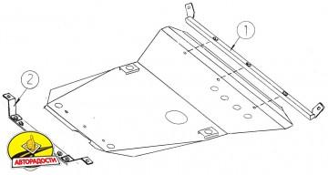 Защита двигателя и КПП, радиатора для Ford Contour '94-00, V-2,0 (Кольчуга)