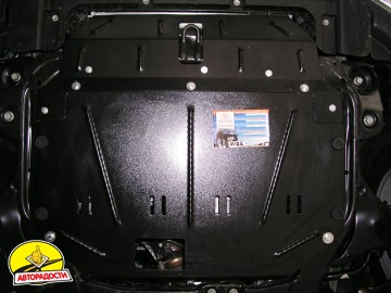 Защита двигателя и КПП, радиатора для Hyundai i30 FD '07-12, V-все, АКПП, МКПП, АКПП, МКПП (Кольчуга)