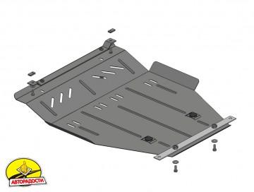 Защита двигателя и КПП, радиатора для Geely MK Cross '06-, V-1,5, МКПП, сборка Украина (Кольчуга)