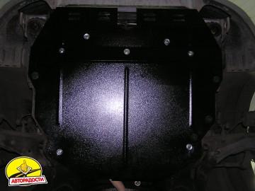 Защита картера двигателя, КПП и радиатора для Kia Cerato I '04-08, V-все, МКПП/АКПП (Кольчуга)