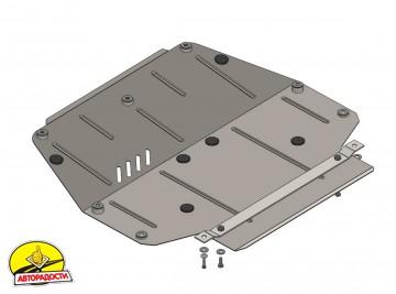 Защита картера двигателя, радиатора для Mercedes-Benz W 201 '82-93, V-2,0 D, V2,5D (Кольчуга)