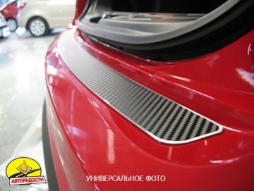 Накладка на бампер карбон для Suzuki SX4 '06-, хетчбек (Premium+k)