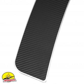 Накладка на бампер карбон для Skoda Octavia A7 '13- (Premium+k)