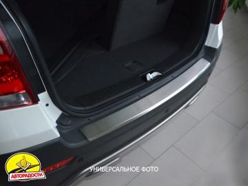 Накладка с загибом на бампер для Nissan Tiida '05-14 Хетчбек (Premium)