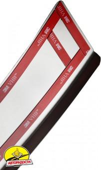 Накладка с загибом на бампер для Toyota RAV4 с 2013 по 2015 (Premium)