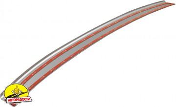 Накладка с загибом на бампер карбон для Skoda Octavia A5 '09-13 Универсал (Premium+k)