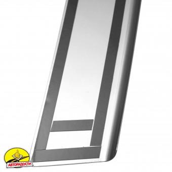 Накладка с загибом на бампер карбон для Ssangyong Korando '11- (Premium+k)