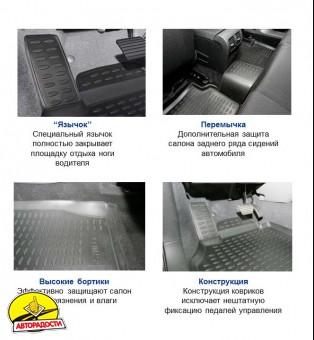 Коврики в салон для Dodge Caliber '07-12 полиуретановые, бежевые (Novline / Element)