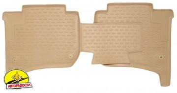Коврики в салон для Volkswagen Touareg '10-18 полиуретановые, бежевые (Novline / Element)