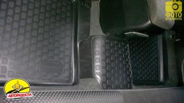 Коврики в салон для Mitsubishi Lancer 9 '04-09 полиуретановые, черные (L.Locker)
