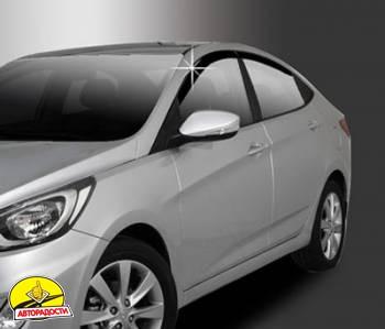 Дефлекторы окон для Hyundai Accent (Solaris) '11-, седан (Auto Сlover)