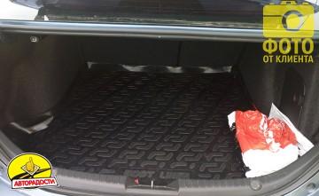 Коврик в багажник для Mazda 3 '14- седан, резино/пластиковый (Lada Locker)