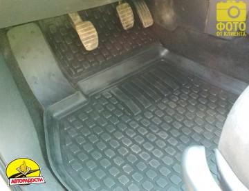Коврики в салон для Renault Megane '02-08 полиуретановые, черные (L.Locker)