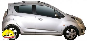 Багажник на рейлинги для Chevrolet Spark '11-, вровень рейлинга (Whispbar-Prorack)