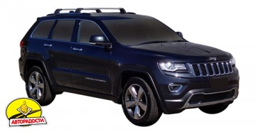 Багажник на рейлинги для Jeep Grand Cherokee '11-, до края опоры (Whispbar-Prorack)