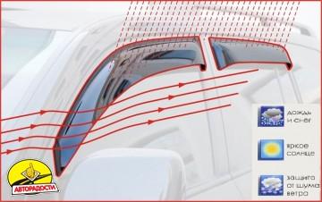 Дефлекторы окон для Skoda Octavia A5 '05-13, лифтбек, 4шт. (Cobra)
