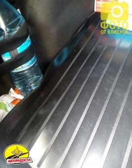 Коврик в багажник для Ford Focus 3 (III) '11- седан, резино/пластиковый (Lada Locker)