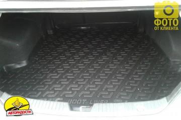 Коврик в багажник для Hyundai Sonata '10-15, резино/пластиковый (Lada Locker)