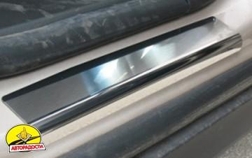 Накладки на пороги для Chevrolet Orlando '11- (Premium)