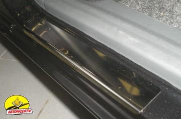 Накладки на пороги для Daewoo Lanos '98-04 (Premium)