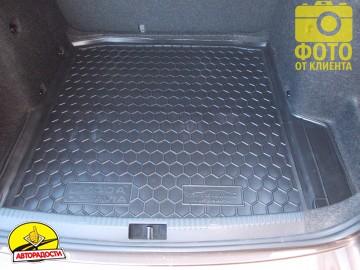 Коврик в багажник для Skoda Octavia A7 '13- седан, резиновый (AVTO-Gumm)