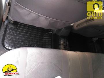 Коврики в салон для Daewoo Lanos / Sens '05- резиновые, черные (AVTO-Gumm)