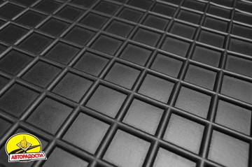 Коврики в салон для Mitsubishi Pajero Sport '08-16 резиновые, черные (AVTO-Gumm)