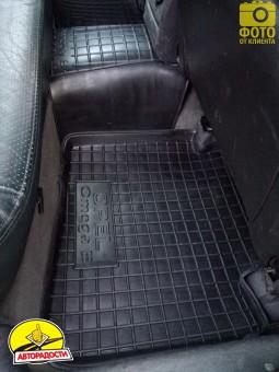 Коврики в салон для Opel Omega B '94-03 резиновые, черные (AVTO-Gumm)