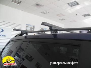 Багажник на рейлинги для Nissan Qashqai '06-14, сквозной (Десна-Авто)