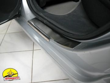 Накладки на пороги для Peugeot 407 '04- универсал (Premium)