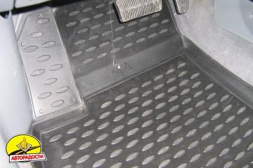 Коврики в салон для Chevrolet Lacetti '03-12 полиуретановые, серые (Novline)