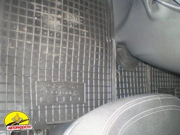 Коврики в салон для Fiat Scudo '07-16, 2.0 резиновые, черные (AVTO-Gumm)