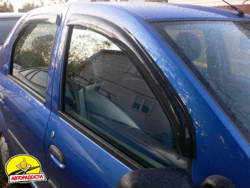 Дефлекторы окон для Renault Logan '04-12 (Hic)
