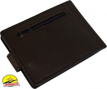 Зажим для денег темно-коричневый, без логотипа