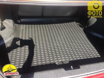 Коврик в багажник для Chevrolet Lacetti '03-12 седан, полиуретановый (Novline) черный