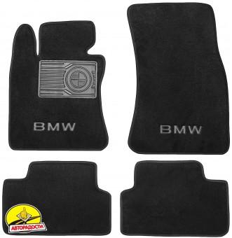 Коврики в салон для BMW 6 E63 '03-11 текстильные, черные (Люкс)