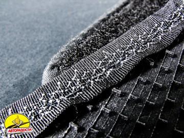 12 - Коврики в салон для Chery QQ3 S11 '03- текстильные, серые (Люкс)