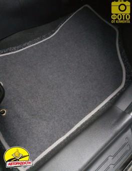 Коврики в салон для Kia Soul '09-13 текстильные, серые (Люкс)
