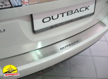 Накладка на бампер для Subaru Outback '09-14 (Premium)