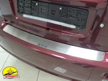 Накладка на бампер для Suzuki SX4 2006-2014, седан (Premium)
