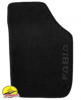Коврики в салон для Skoda Fabia II '07-14 текстильные, черные (Люкс)