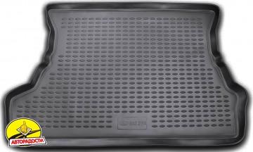 Коврик в багажник для Lada (Ваз) 2114 '97-12 хетчбэк, полиуретановый (Novline / Element) черный