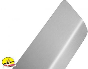 Накладка с загибом на бампер для Skoda Fabia II '07-14 Универсал (Premium)