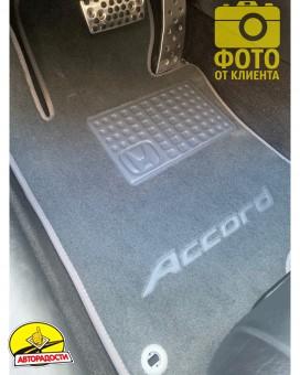 Коврики в салон для Honda Accord 8 '08-13 EUR  текстильные, серые (Премиум)